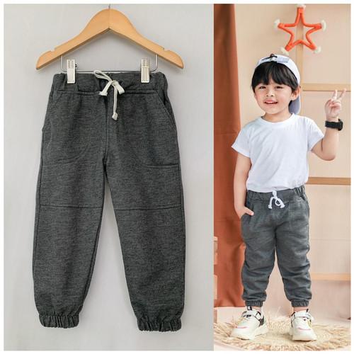 Foto Produk Celana Jogger Anak Polos Warna Abu Tua Size 2-5thn - 2tahun dari baby smile