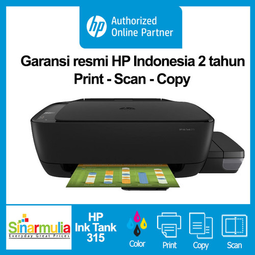 Foto Produk Printer HP Ink Tank 315 All-in-One Print Scan Copy Color dari Sinarmulia Sukses Makmur