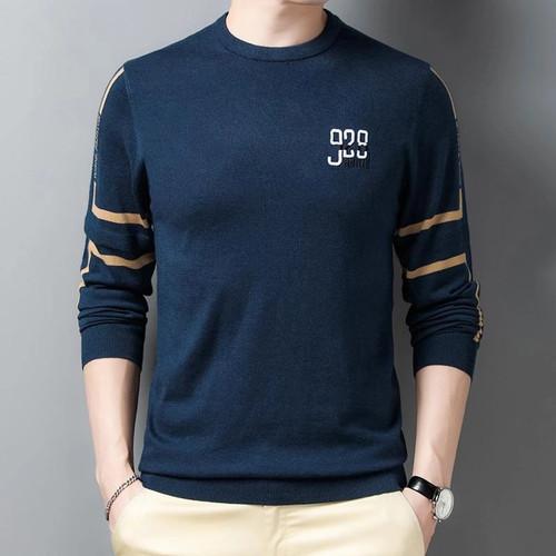 Foto Produk Baju Kaos Lengan Panjang Pria Atasan Cowok Vogo Fashion Kekinian - Navy dari queenlabel
