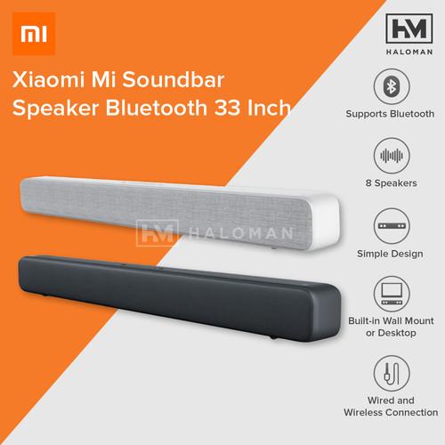 Foto Produk Xiaomi Mi Soundbar Speaker Bluetooth Home Theater 33 Inch - Hitam dari haloman.id