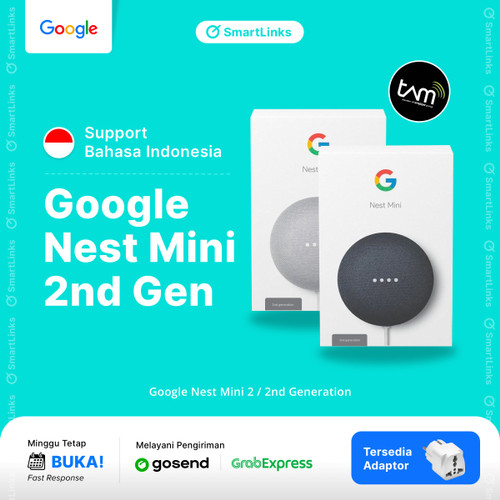 Foto Produk Google Nest Mini 2 / 2nd Generation - Garansi Resmi TAM - Abu-abu dari SmartLinks