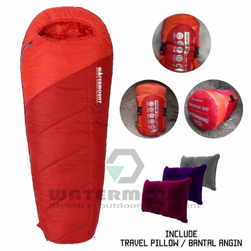 Foto Produk Sleeping bag Mummy Watermount Transition 200 ORIGINAL waterproof - Merah-oranye dari tebu-outdoor