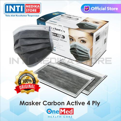 Foto Produk ONEMED - Masker Carbon Active 4 Ply   Masker Karbon   Masker Medis dari INTI MEDIKA STORE