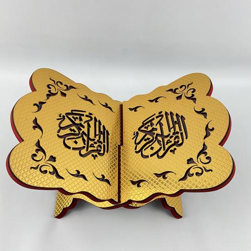 Foto Produk Rekal Al-Quran ukuran lebar 26cm. Tatakan, dudukan Lekar Alquran - Gold Kotak dari HiHappyShopping