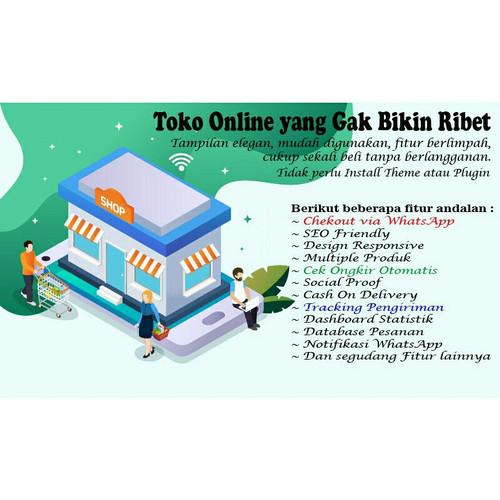 Foto Produk Script Website Toko Online Whatsapp dengan Ongkir otomatis dari JogjaStore.Net