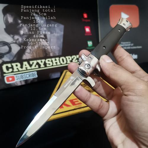 Foto Produk Pisau Lipat clasic italian Knife / Pisau Lipat dari crazyshop27