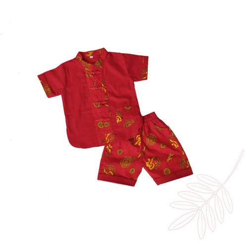 Foto Produk Baju Setelan imlek cheongsam Xipao cina anak laki laki - size S dari ami babyshop