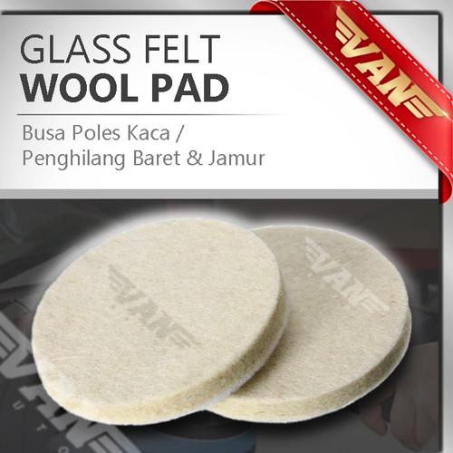 "Foto Produk Busa Poles Kaca / Wool Glass Felt 1"" 2"" 3"" 4"" 5"" 6"" 7"" komplit Velcro - 2 inch dari VANAUTO"