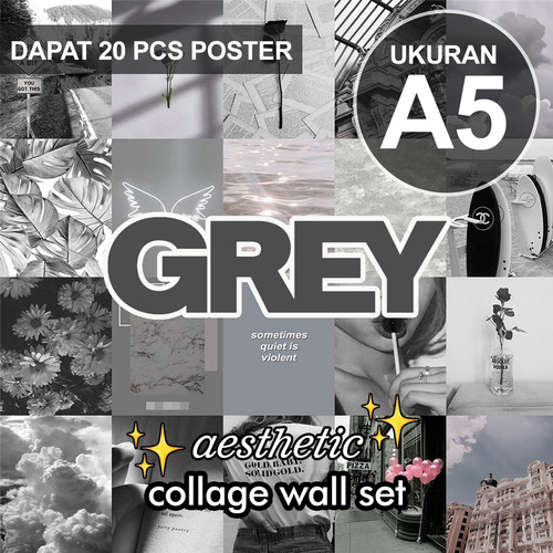Jual Poster Aesthetic Collage Wall Dark Aesthetic Series Jakarta Utara Thrift N Gift Tokopedia