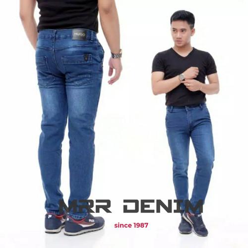 Foto Produk Celana jeans pria panjang slimfit skiny hitam jumbo standar - Bio stone, 27/28 dari Mrr_denim