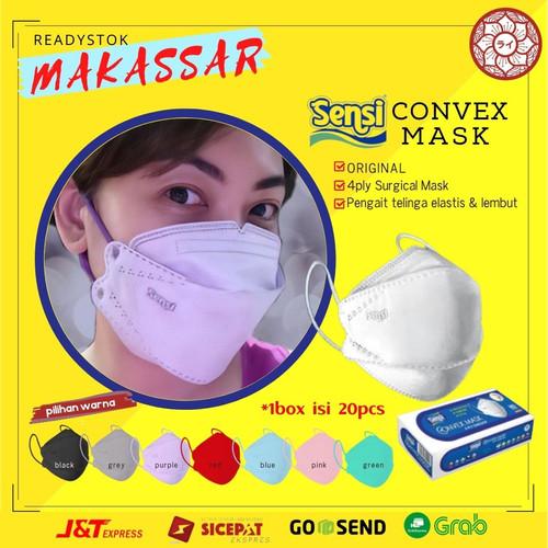 Foto Produk Masker Convex Mask Sensi 4 Ply Original 20pcs Kota Makassar - Hitam dari Rai Organik Online