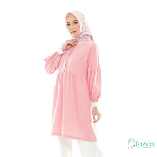 Foto Produk Atasan Muslim Wanita | Manda Tunik Pink | S M L XL | Tazkia Hijab - M dari Tazkia Hijab Store