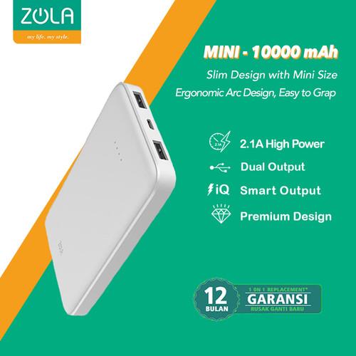 Foto Produk Zola International Mini Powerbank 10000 mAh - White dari Zola Indonesia