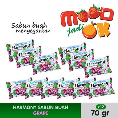 Foto Produk HARMONY Sabun Buah Grape 70g (12pcs) dari Lervia Official Store