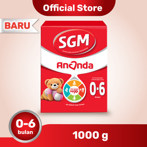 Foto Produk SGM Ananda 1 Susu Formula Bayi 0-6 Bln 1000g dari SGM Official Store