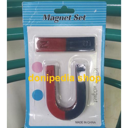 Foto Produk Set Magnet U + Magnet Batang ~ Mainan Edukatif Teaching Magnets dari Donipedia SHOP