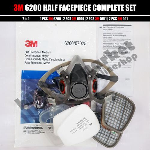Foto Produk PROMO 3M 6200 3M Half Facepiece Respirator Half Gas Mask Medium Masker dari billindomarket