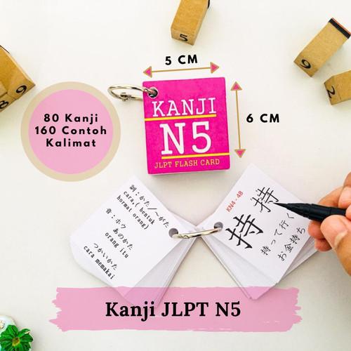 Foto Produk Kartu-FlashCards Kanji N5 Vol.1 JLPT/Kamus-Buku Kanji N5 dari RSP Flash Cards