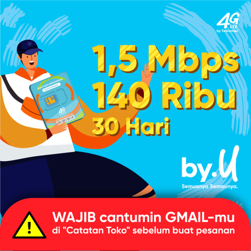 Foto Produk by.U Yang Bikin Aman Jaya Banget - Kuota ~ GB | 140 RIBU | 30 HARI dari by.U Official Store