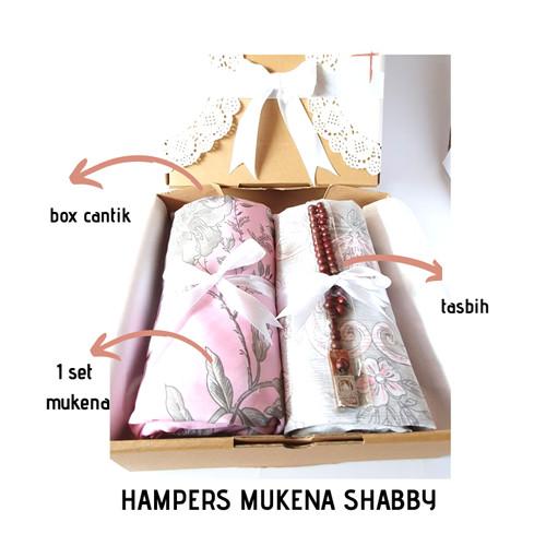 Foto Produk HAMPERS KADO ULANGTAHUN/PENGANTIN MUKENA SHABBY FREE TASBIH&GIFT CARD dari Mazaya Mukena