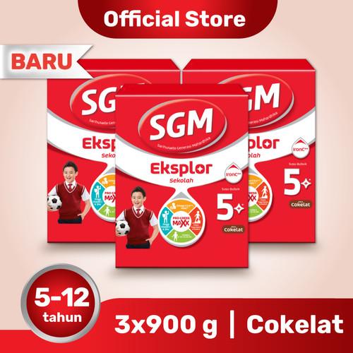 Foto Produk Paket 3 - SGM Eksplor 5 Plus Susu Pertumbuhan 5-12 Thn Coklat 900g dari SGM Official Store