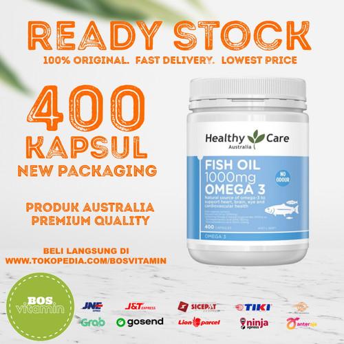 Foto Produk READY STOCK - Healthy Care Fish Oil 1000mg 400 capsules dari Bos Vitamin