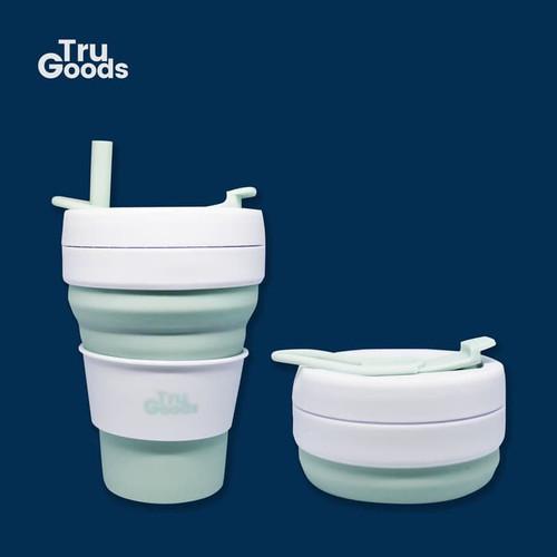 Foto Produk Foldable Cup Premium Tru Goods / Gelas Kopi Lipat 475 ML - Mint dari Tru_Goods