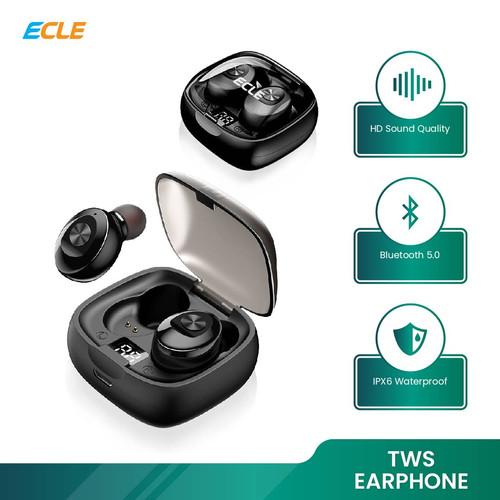 Foto Produk ECLE Earphone Waterproof Wireless LED Bluetooth 5.0 Headset Audio Bass dari ECLE Official Store