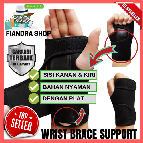Foto Produk Carpal Tunnel Splint Carpal Tunnel Syndrome CTS Deker Pergelangan ORI - KIRI dari Fiandra Shop