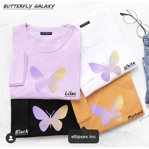 Foto Produk Ellipsesinc - Kaos Oversize Wanita Lengan Panjang Butterfly Galaxy - Putih dari Ellipses.inc