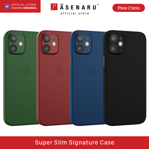Foto Produk ASENARU iPhone 12 /12 Mini Casing - Super Slim Signature Case - Hijau, iPhone 12 Mini dari Asenaru Official Store
