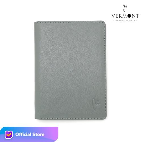 Foto Produk VERMONT E002 Dompet Unisex Kulit Asli Original - Classic Gray dari VERMONT LEATHER