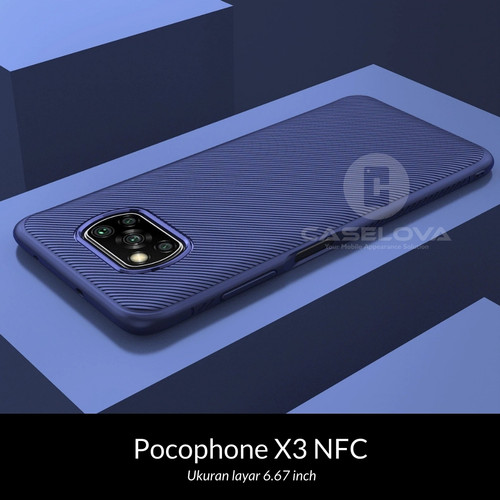 Foto Produk Case Xiaomi Pocophone POCO X3 NFC Evoskin Anti Skid Silicone Softcase - Hitam dari Caselova Store