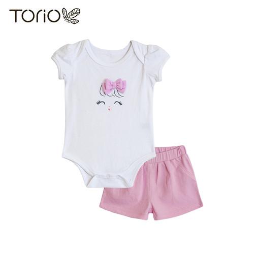 Foto Produk Torio Cheerful Twinkle Onesie Set - Baju Anak Perempuan - 3-6 bulan dari Torio