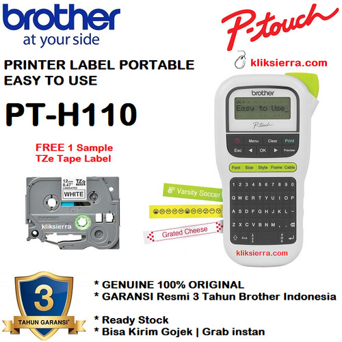 Foto Produk Brother Label Printer PT-H110 Label Maker dari kliksierra