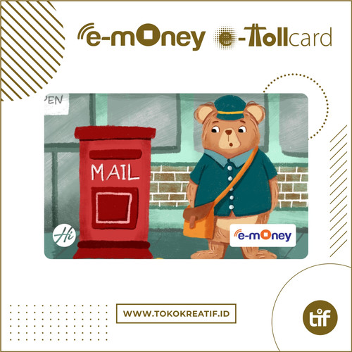 "Foto Produk eMoney eToll Mandiri ""Mr. Postman"" dari TokoKreatif ID"