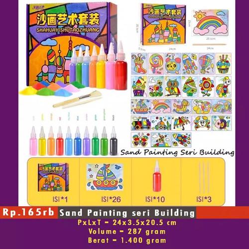 Foto Produk Mainan Edukasi - Mewarnai Dengan Pasir - Sand Painting Book dari tokosusularismanis
