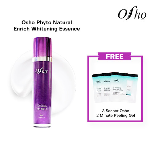 Foto Produk Osho - Phyto Natural Enrich Whitening Essence Free 3 Sch Peeling Gel dari Osho Korea Official