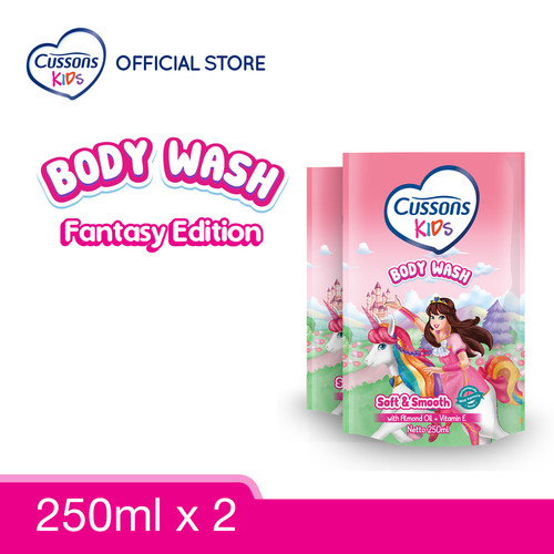 Foto Produk Cussons Kids Body Wash Unicorn Soft & Smooth 250ml Twin Pack dari Cussons Official Store