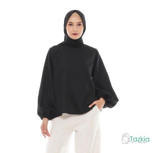 Foto Produk Atasan Muslim Wanita | Lune Blouse Hitam | S M L XL | Tazkia Hijab - M dari Tazkia Hijab Store