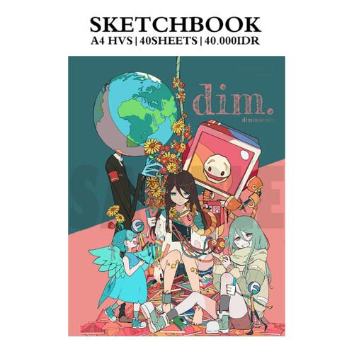 Foto Produk A5 size Sketchbook: Diminuendo dari Mimi N - FutarinoKizuna