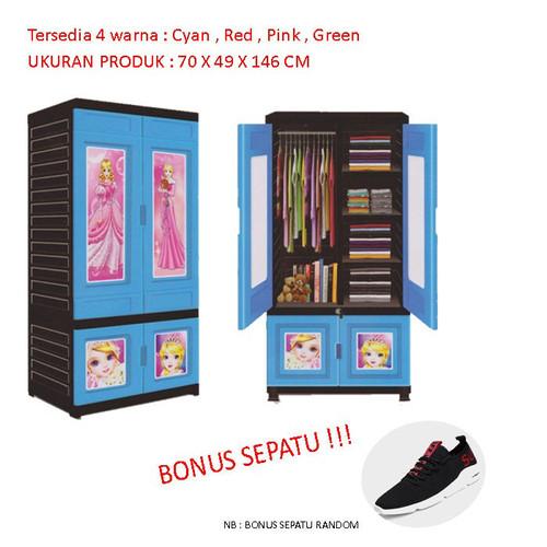 Foto Produk Lemari baju plastik sederhana murah   Orca WD-031 dari Jeimart Store