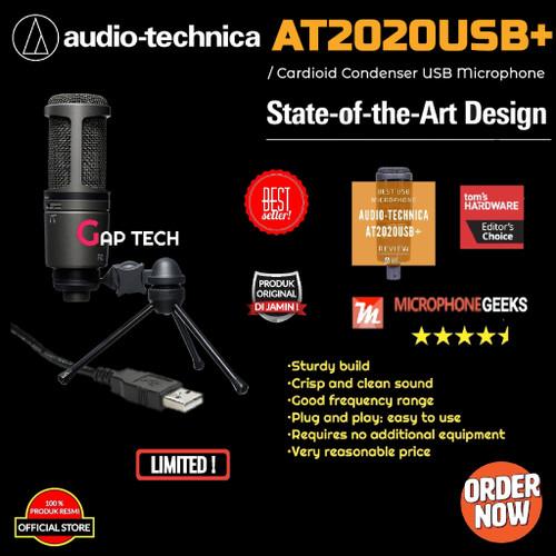 Foto Produk Audio Technica AT2020USB+ / AT2020USB Plus / AT2020 USB+ Microphone dari GAP TECH OFFICIAL