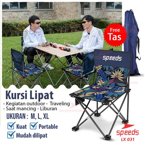 Foto Produk Kursi Lipat Outdoor Portable Kursi Camping Bangku Gunung SPEEDS 031-12 - M dari Speeds Official Store