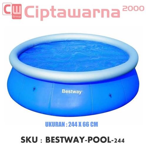 Foto Produk Bestway Fast Set Pool Biru 244m. Kolam Renang Anak & Keluarga dari Cipta Warna
