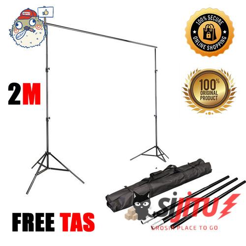 Foto Produk Tiang Background Stand Bracket Backdrop 2m x 2m Original Fotografi dari Sijitu Grosir
