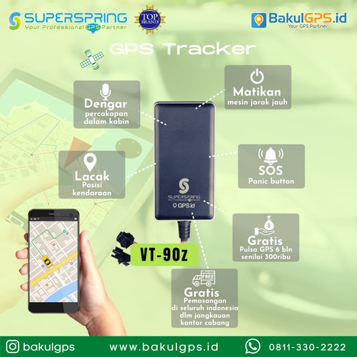 Foto Produk GPS Tracker Pelacak Super Spring VT-90Z dari BakulGPS.co.id