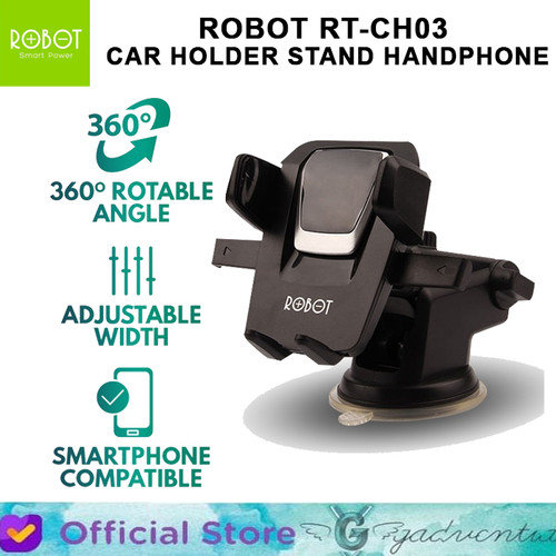 Foto Produk Robot RT-CH03 Car Holder Stand HP Mobil 360 Rotatable Dashboard Kaca dari GADVENTIA Official Store