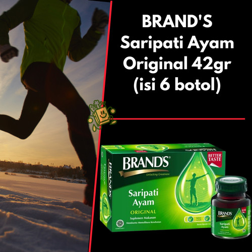 Foto Produk BRAND'S Saripati Ayam ORIGINAL 42gram (1 box Isi 6 botol) dari sayur jujur