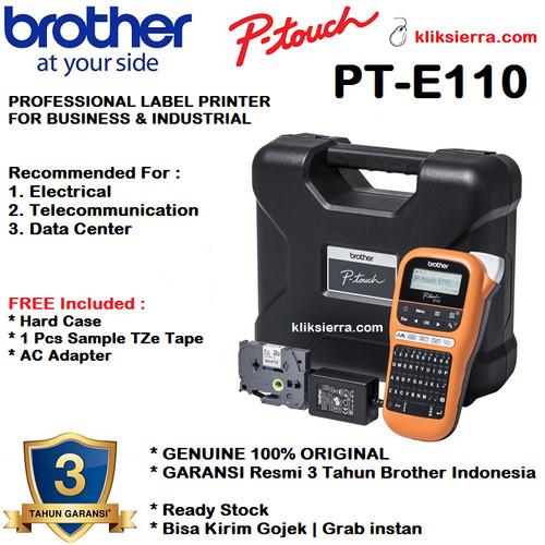 Foto Produk BROTHER Printer Label P-Touch PT-E110VP / Handheld Electrician E110 VP dari kliksierra